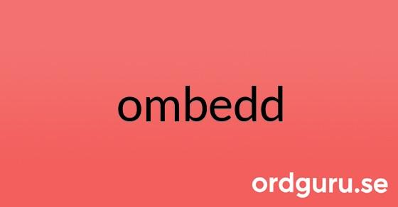 ombedd på ordguru.se