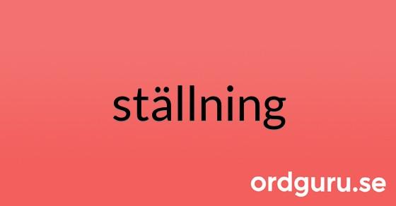 ställning på ordguru.se
