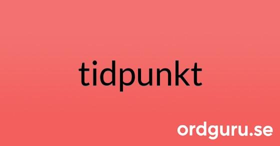 tidpunkt på ordguru.se