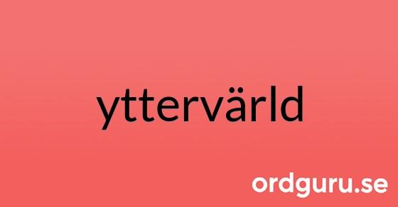 yttervärld på ordguru.se