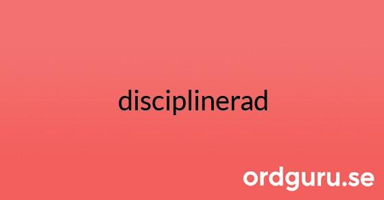 disciplinerad på ordguru.se