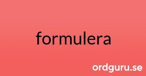 formulera på ordguru.se