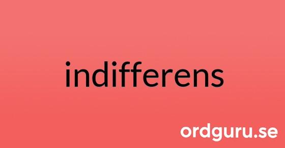 indifferens på ordguru.se
