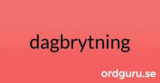 dagbrytning på ordguru.se
