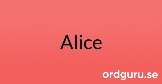 Alice på ordguru.se
