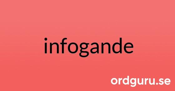 infogande på ordguru.se