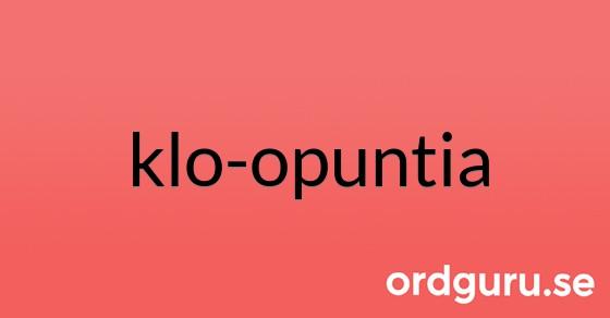 klo-opuntia på ordguru.se