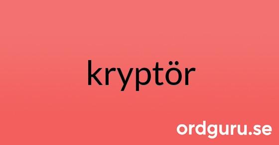 kryptör på ordguru.se