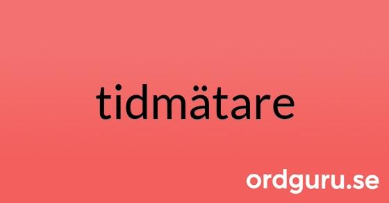 tidmätare på ordguru.se