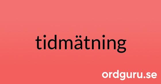 tidmätning på ordguru.se