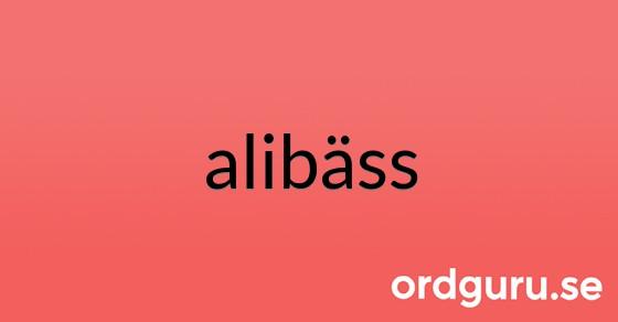 alibäss på ordguru.se