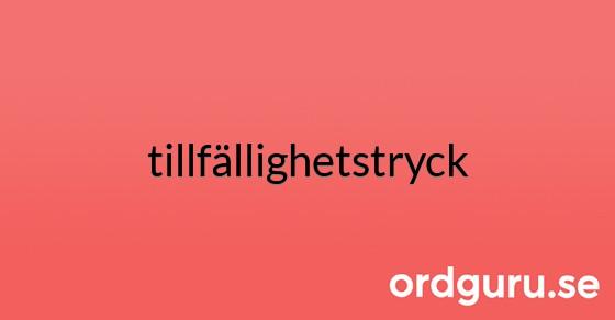 tillfällighetstryck på ordguru.se